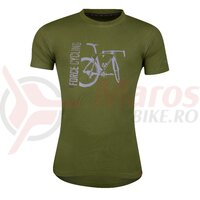 Tricou Force Flow maneci scurte verde