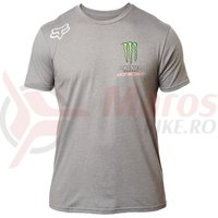 Tricou Fox Monster PC SS Tee htr drk grey