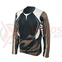Tricou maneca lunga Shimano saint black/walnut