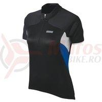 Tricou maneca scurta Shimano femei black/white/olympian blue