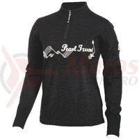 Tricou P.R.O. woolie 1/4 zip femei Pearl Izumi ride black