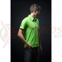 Tricou polo Merida Style Edition guler scurt verde