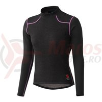 Tricou Shimano breath hyper base layer maneca lunga femei negru/roz