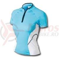 Tricou Shimano indoor maneca scurta femei albastru
