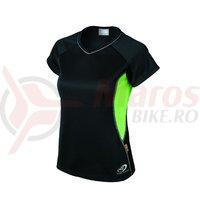 Tricou Shimano indoor pentru femei larg negru/verde