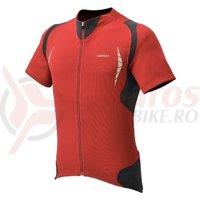 Tricou Shimano insert maneci scurte full zip deep red