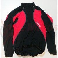Tricou Shimano Performance Premium maneca lunga negru/rosu
