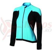 Tricou Shimano Performance Premium pentru femei maneca lunga negru/albastru