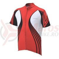 Tricou Shimano Print maneci scurte true red/white