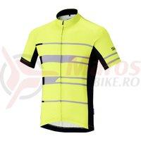 Tricou Shimano Shimano team short sleeve neon yellow