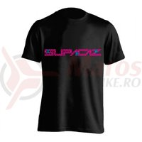 Tricou Supacaz - Asanoha- roz neon / albastru neon