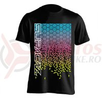 Tricou Supacaz - Star Fade - albastru neon / roz neon / galben neon