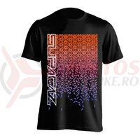 Tricou Supacaz - Star Fade - orange neon / roz neon / mov neon