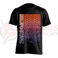 Tricou Supacaz - Star Fade - orange neon / roz neon / mov neon