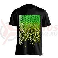 Tricou Supacaz - Star Fade - verde neon / galben neon