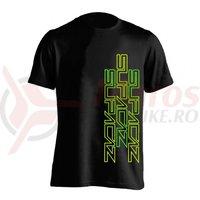 Tricou Supacaz Str8 Up verde neon/galben neon