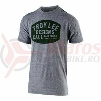Tricou Troy Lee Designs Blockworks Vintage Gray Snow