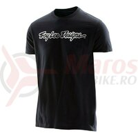 Tricou Troy Lee Designs Signature Tee Black 2020