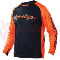 Tricou Troy Lee Designs Sprint JRSY navy orange