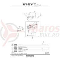 Unitate schimbare viteze Shimano SL-M780-I dreapta