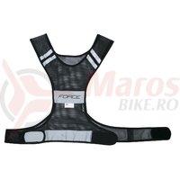 Vesta reflectorizanta Force Safe neagra