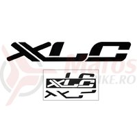 XLC 3D logo sticker, black, 45 x 7 x 1cm