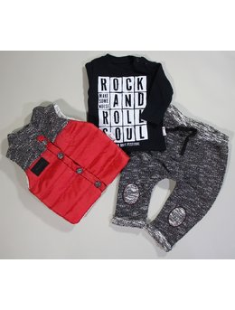 Compleu fashion Rock and Roll Rosu