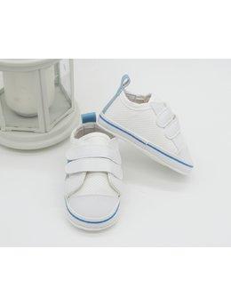 Adidasi albi dunga bleu si gri