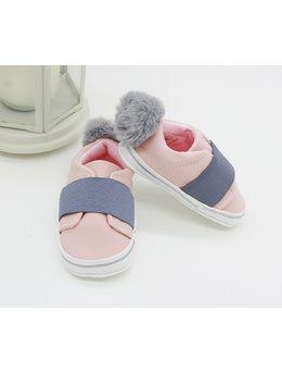 Adidasi fetite cu ciucuras la spate model roz