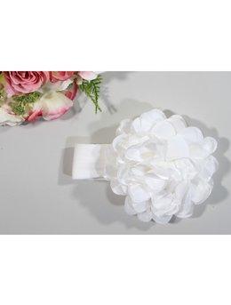 Bentita 0-12 luni floare mare alb