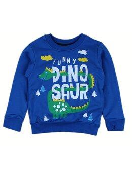 Bluzita vatuita Dino albastru