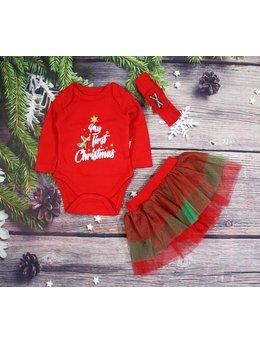 Body cu pantalon tip fustita si bentita Christmas