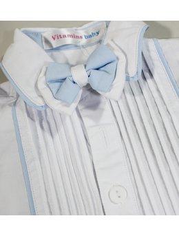 Camasa eleganta alba cu bleu