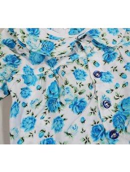 Camasa fetite floricele albastre