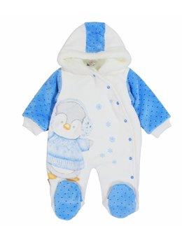 Combinezon pinguinul friguros bleu