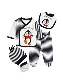 Compleu 5 piese pinguin
