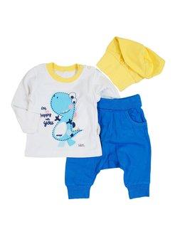 Compleu bebe galben-albastru