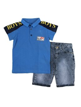 Compleu boys elegant albastru