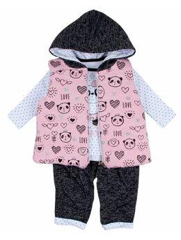 Compleu cu vesta roz model panda