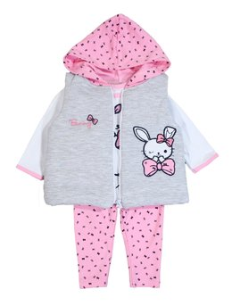 Compleu cu vestuta Bunny roz
