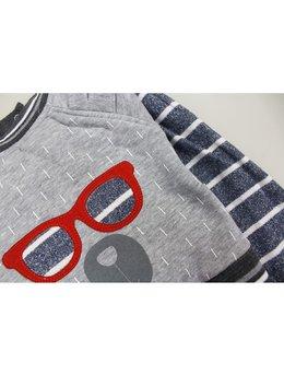 Compleu fashion gri 9-12 luni cod: C9114