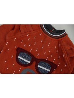 Compleu fashion rosu 6-9 luni cod: C9114