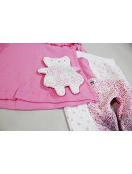 Compleu fetita roz volanas