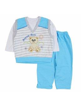 Compleu Happy Bear bleu