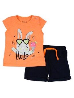 Compleu Hello rabbit portocaliu
