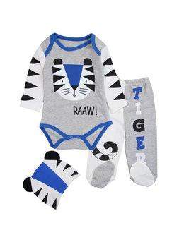 Compleu tigru albastru 3 piese