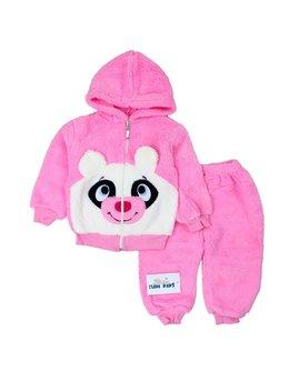 Compleu urs cocolino roz 9-12 luni cod: 2010