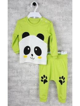 Compleu verde 2 piese panda