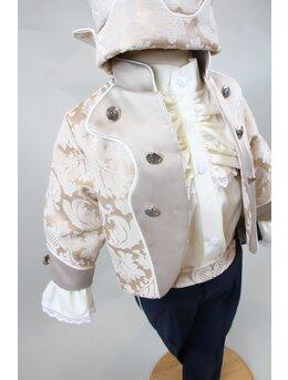 Costum print imperial crem inchis