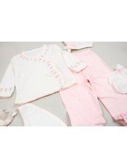 Costumas 5 piese brodat roz